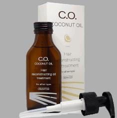 אריזת שמן קוקוס לשיער C.O